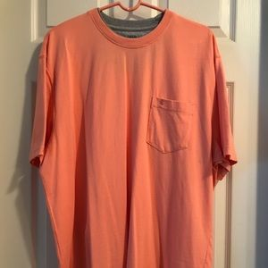 Izod T-Shirt in Peach with Breast Pocket